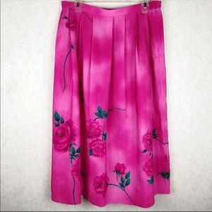 Vintage Koret tie dye pink rose skirt